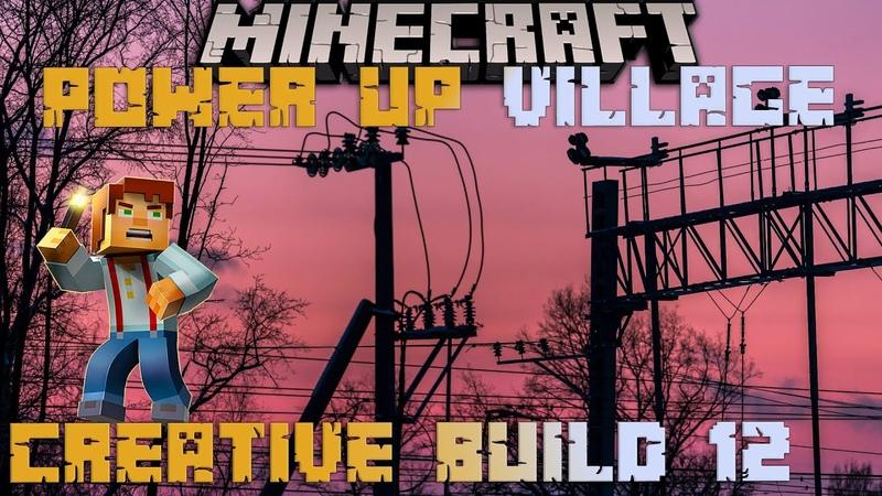 Minecraft creative builds 12 ⛏️ Power up my Minecraft village under real storm 🌩️