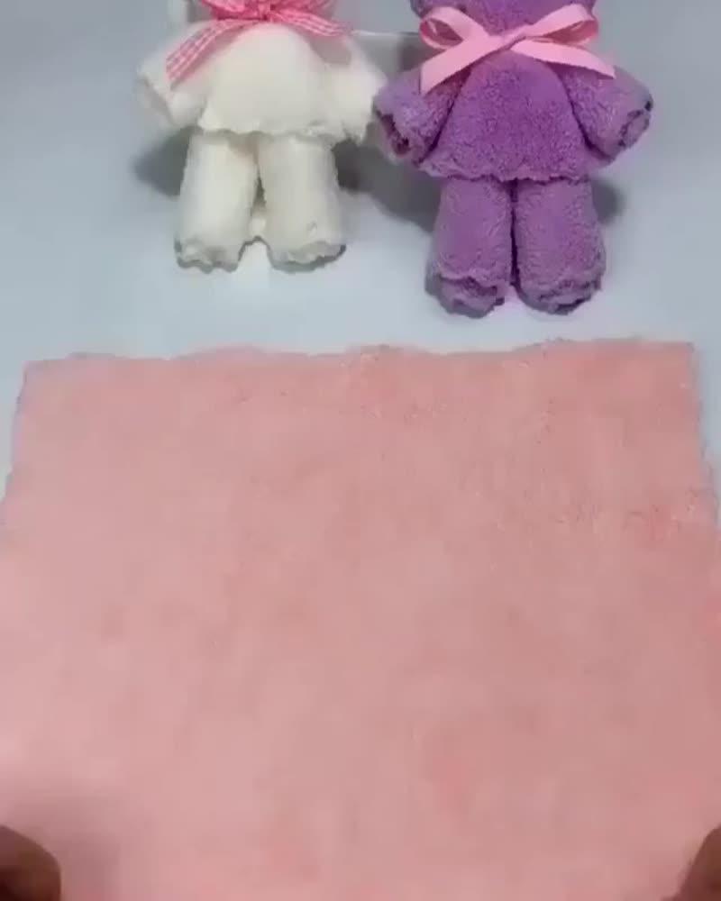 Мишки из полотенца