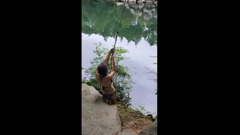 Quarry rope swinging