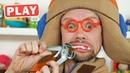 КукуРlay - Как у Ам Няма ВСЕ Зубы Заболели - Лечим Зубки - Поиграйка с Пилотом Винтиком