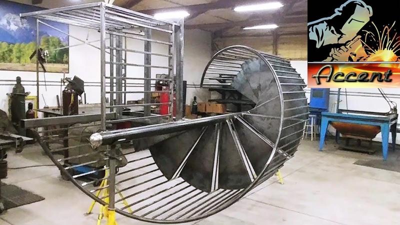 1 Как делать винтовые спиральные лестницы