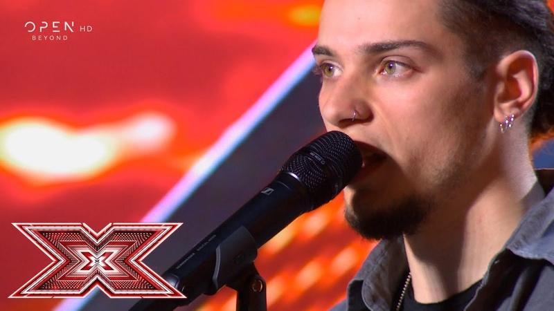 John the revelator τραγουδά ο Δημήτρης Παπατσάκωνας Auditions X Factor Greece 2019