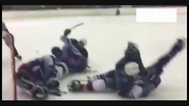 Драка на паралимпийском хоккее