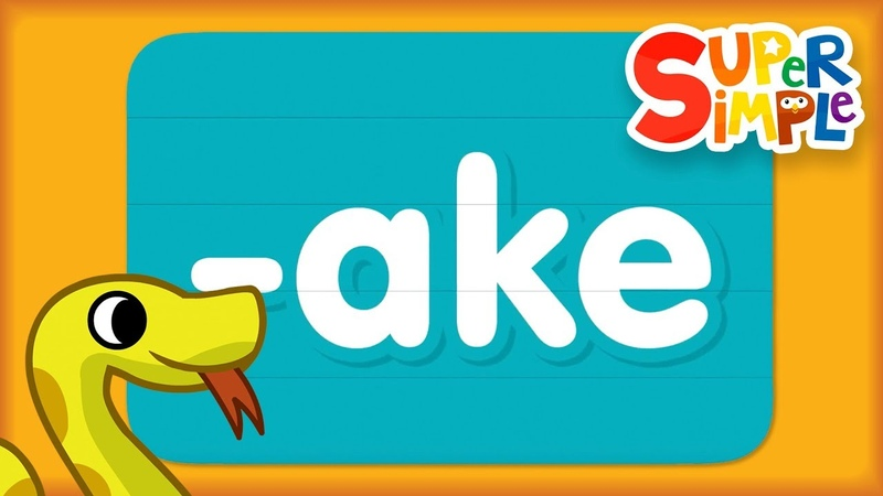 Word Family ake Turn And Learn ABCs Super Simple ABCs