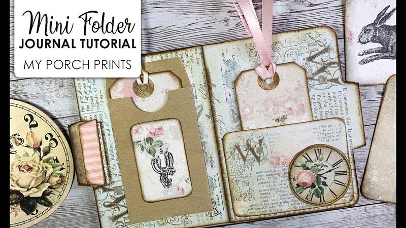 Mini Folder Junk Journal Tutorial from My Porch Prints