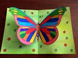 Открытка: Парящая бабочка Шаблоны прилагаются!
