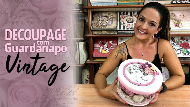 Decoupage com Guardanapo Vintage (ArtesanatoDecoupage)