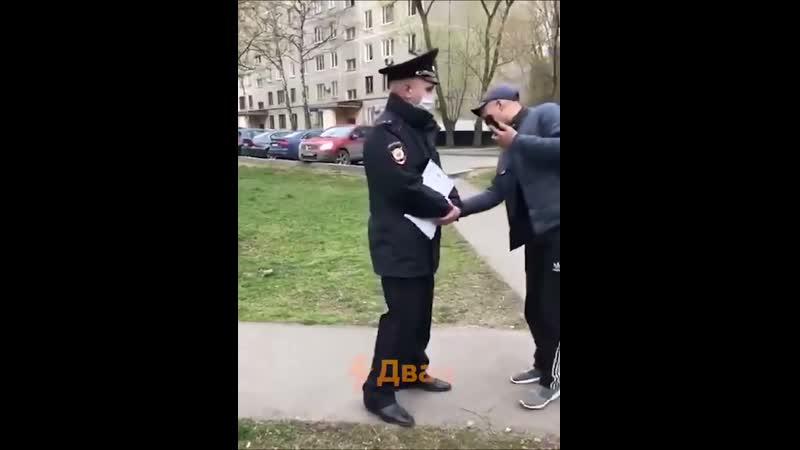 Бухой «гражданин России» сбил фуражку с головы полицейского