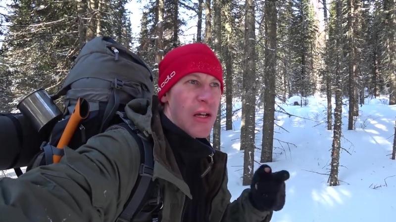 [abvgat] 22. Зимний одиночный маршрут. Возвращение, по тайге на Буране, кадры, изба АБВГАТа.