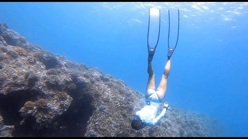 TIME DISTILLED Freediver mermaid Jenna Tanner in Hawaiian caves freedive mermaid