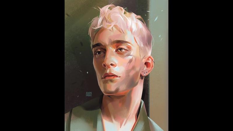 Digital Painting Portrait Study Procreate