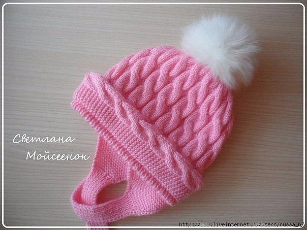 Розовая шапочка для девочки
