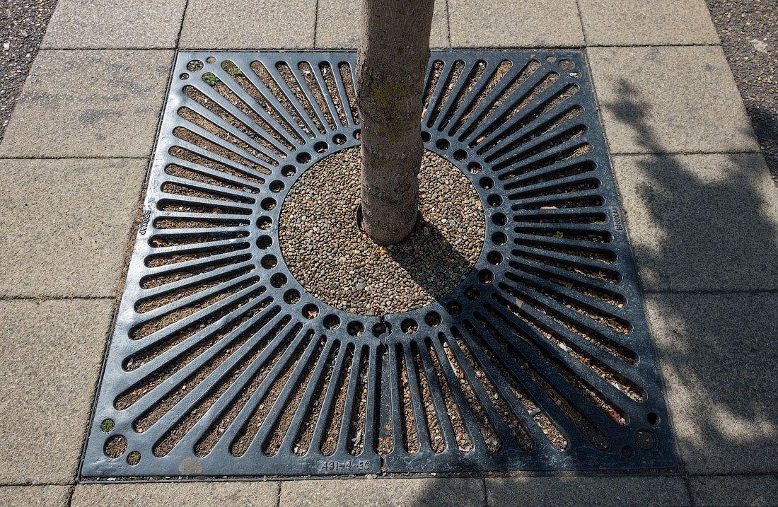 Красивые приствольные решетки для деревьев!