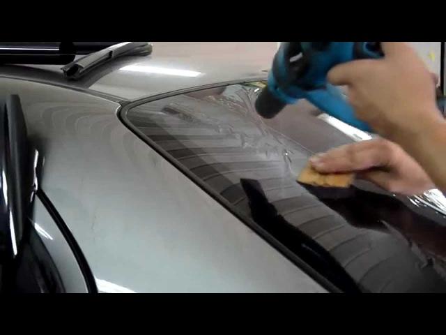 Тонировка заднего стекла автомобиля своими руками Видео инструкция смотреть онлайн без регистрации
