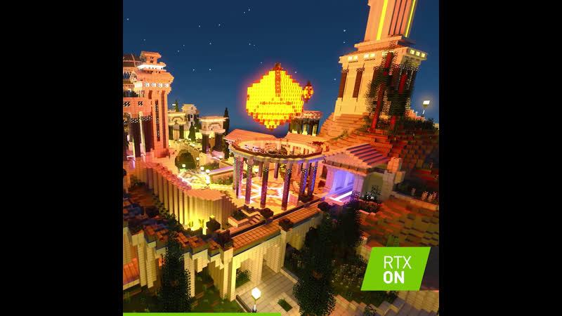 Minecraft RTX Time Lapse