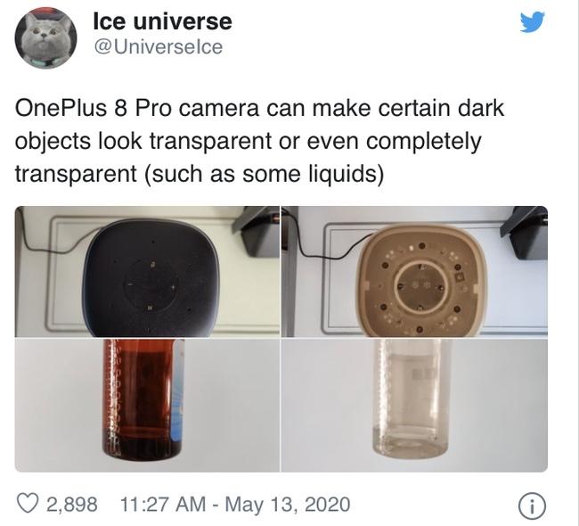Камера смартфона OnePlus 8 Pro умеет делать тёмные объекты прозрачными