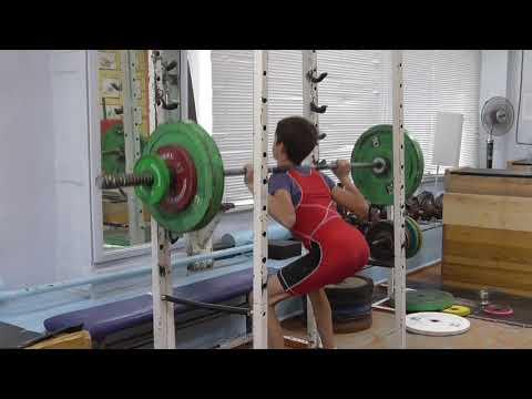 Шумихин Артур 14 лет вк 45 Присед на плеч 52 кг 3 по 8 раз