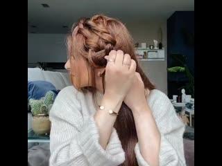 красивая прическа с косичкой
