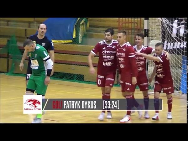 Futsal Ekstraklasa 4 kolejka MOKS Słoneczny Stok Białystok-Dreman Opole Komprachcice skrót meczu