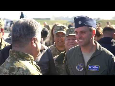 Петро Порошенко та військові навчання Чисте небо 2018 на Хмельниччині