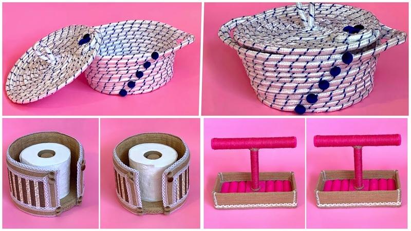 Diy Jute Rope Organizer Diy Jute Jewellery Organizer Diy Toilet Paper Holder