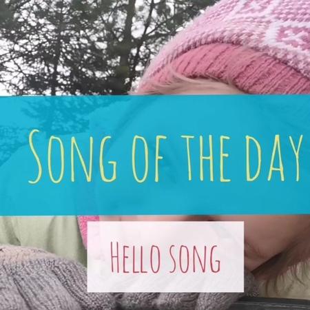 """Kids english at home. on Instagram """"Song of the day - Hello song Как же грустно, Что Ульяна не любит ни петь ни танцевать! Совсем не в свою маму ..."""