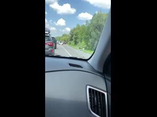 Серьёзное ДТП на трассе Горно-Алтайск/Бийск перед Сростками