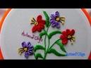 Hand Embroidery:Buttonhole Bar Stitch-Detached Buttonhole   Bordados a mano: Flores en Barra de Ojal
