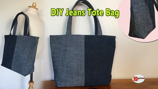 DIY JEANS TOTE BAG | RECYCLE OLD JEANS BAG | DIY BAG OUT OF OLD CLOTHES | BAG SEWING TUTORIAL