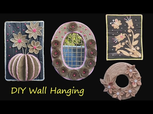 DIY 4 New Style Jute Burlap Wall Hanging    Wall Decor Showpiece ll Best out of waste