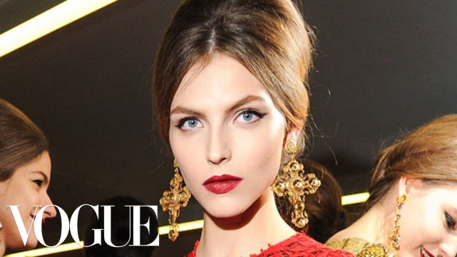 Makeup Tutorial with Pat McGrath Backstage At Dolce Gabbana Fall 2013