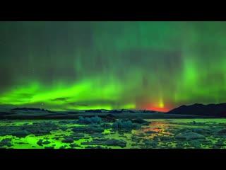 Невероятно красивые кадры северного сияния..