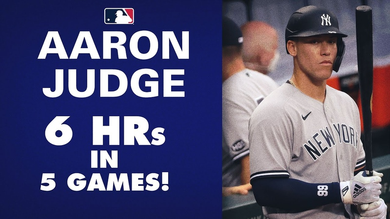 Yankees' Aaron Judge is ON FIRE 6 home runs in 5 games Early favorite for AL MVP