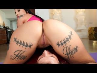 Stella Raee - Shake That Yoga Booty (Big Ass, Big Tits, Blowjob, Black Hair, Sports, Yoga, Tatoo, Hardcore)
