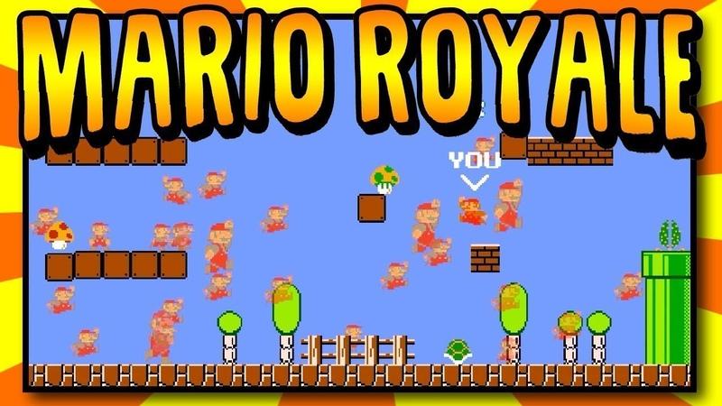 Браузерная онлайн игра Super Mario с королевской битвой на 100 игроков Mario Royale