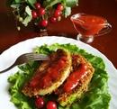 Капустный шницель с томатным соусом