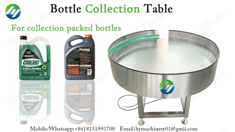 Bottle Turntable Collector for Collecting Packed Bottles Lubricant Barrels Collection Table