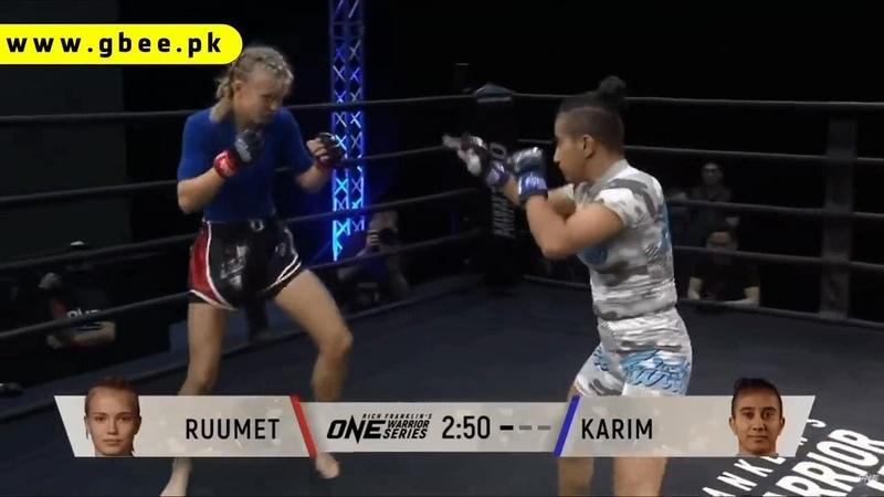 Pakistan's 1st Female MMA Fighter Anita Karim beats Estonia's Marie Ruumet TOP VIDEO top UFC MMA