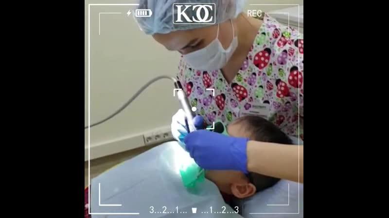 На приеме у детского стоматолога Клиника Семейной Стоматологии