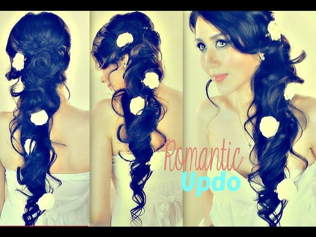 ★ROMANTIC CURLY CASCADING HAIRSTYLES | UPDOS FOR MEDIUM LONG HAIR TUTORIAL | PROM WEDDING HOMECOMING