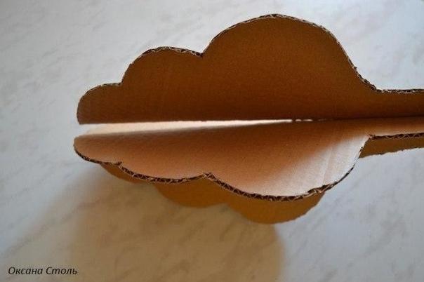 Автор Оксана Столь Необходимый материал: -гофрированный картон -термо - клей, клей ПВА -краска водоэмульсионная, коллер разного цвета или гуашь -лак -тетрадь, бумага белая - разнообразные