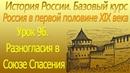 96 Разногласия в Союзе Спасения Россия в первой половине XIX века ОГЭ ЕГЭ по Истории России