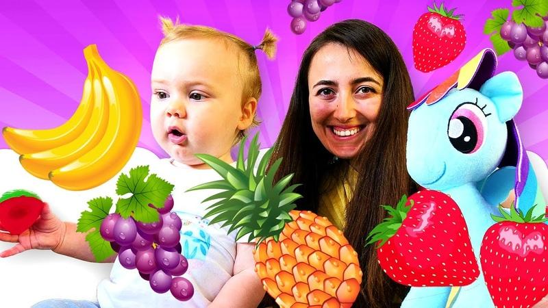 Yemek yapma Sevcan му Derin Pony Rainbow Dash için meyve salatası yapıyor Eğlenceli video