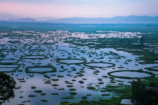 Путешествия. Плавучие острова пхумди озера Локтак