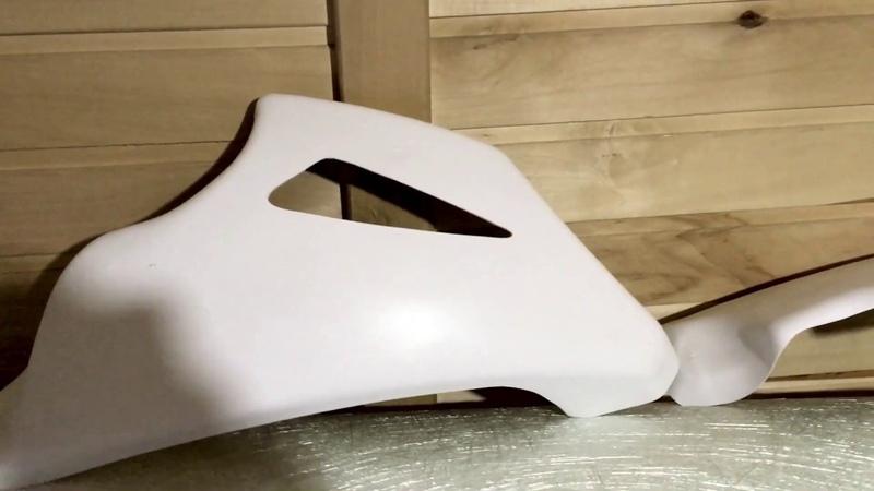 Плуг на мотоцикл стеклопластик для постройки Стритфайтера Универсальный Bellypan