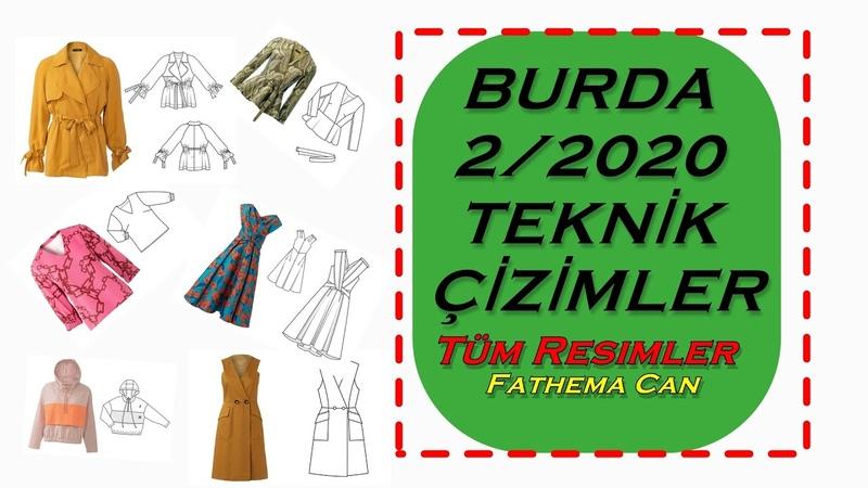 BURDA 2 2020 TEKNİK ÇİZİMLER