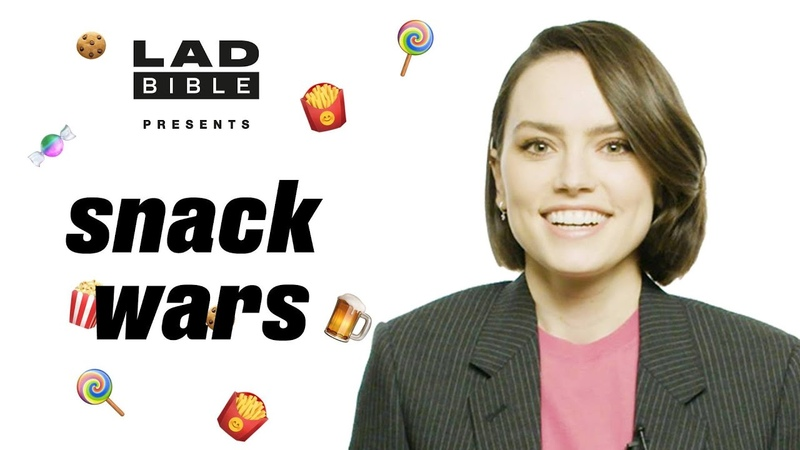 Daisy Ridley Tries British And American Snacks   Snack Wars   LADbible