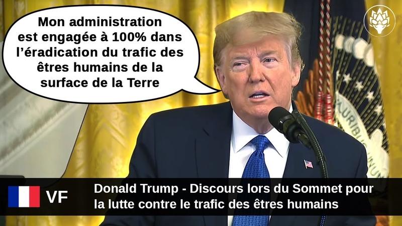 VF Donald Trump Sommet pour la lutte contre le trafic d'êtres humains 31 Janvier 2020