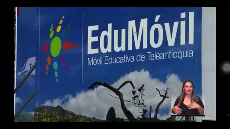 Aníbal Gaviria destacó la Edumovil de TeleAntioquia