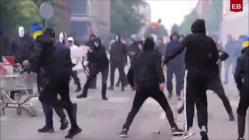 Hooligans im Kampf FC Copenhagen gegen Brondby IF